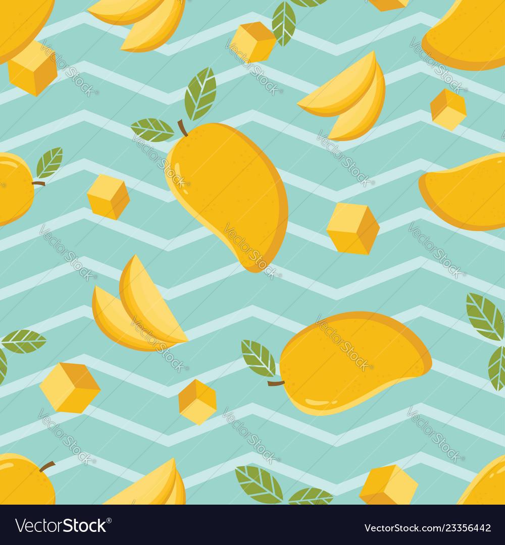 Seamless background pattern yellow mango