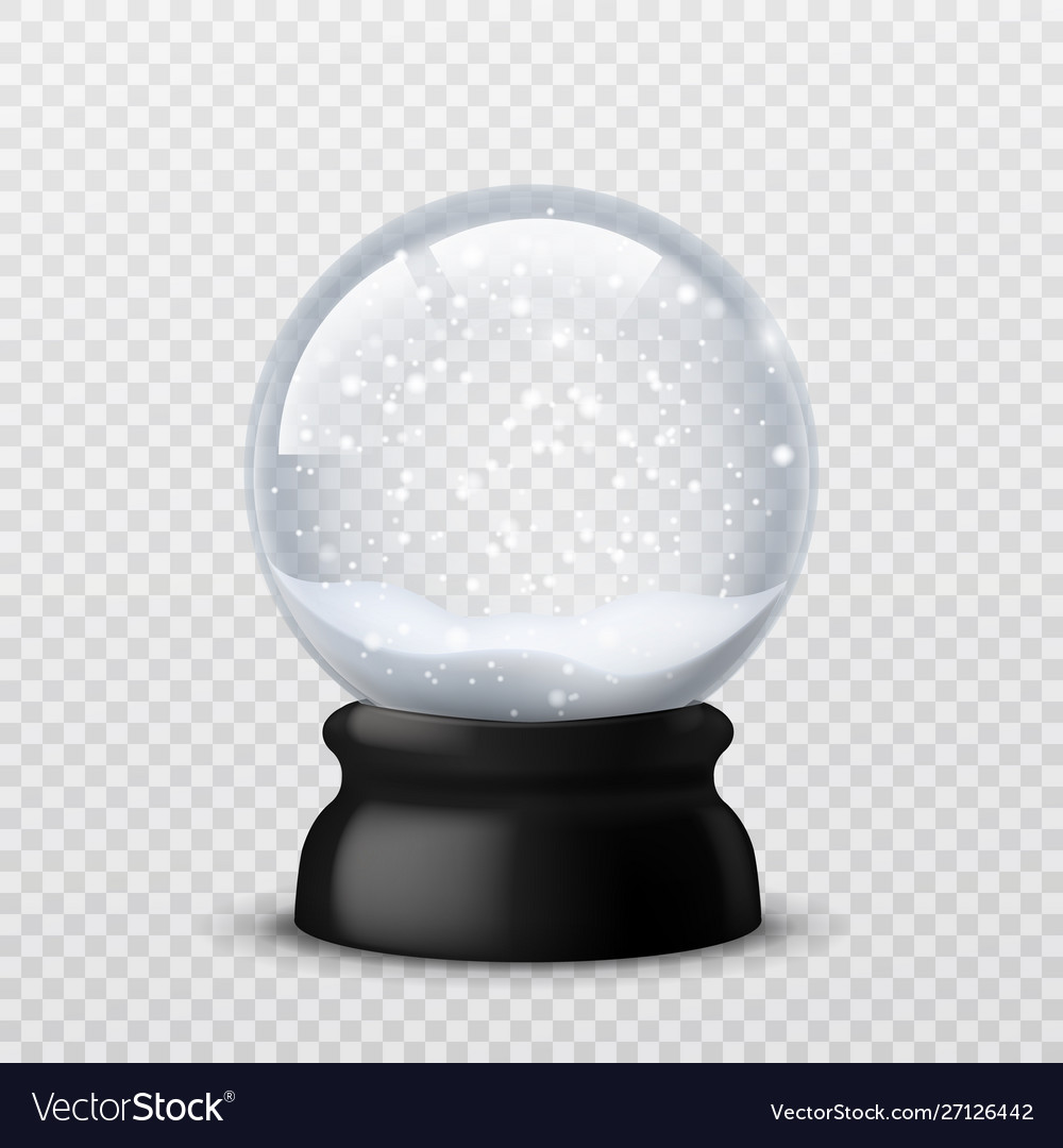 Snow ball christmas and new year realistic