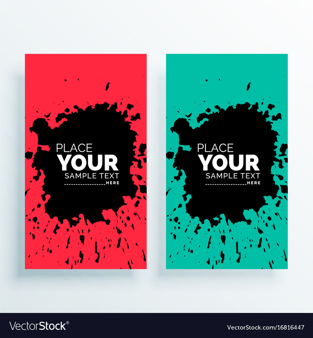 Abstract grunge vertical banners set