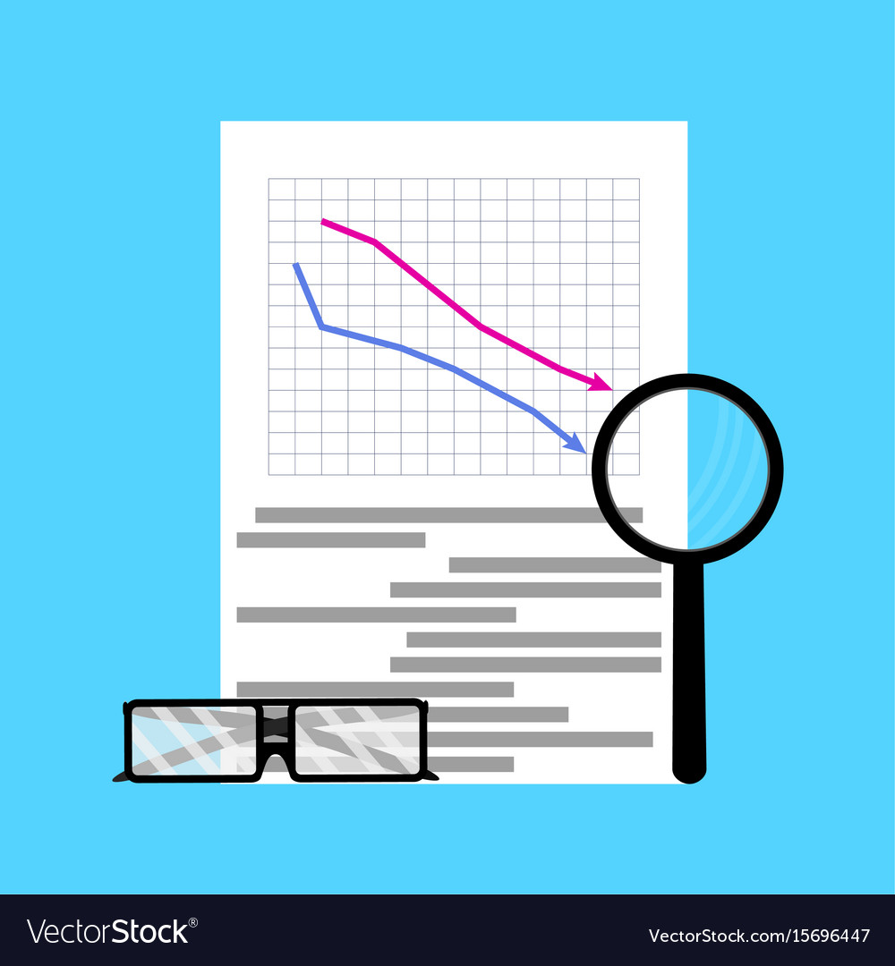 Fall of market flat business vector image