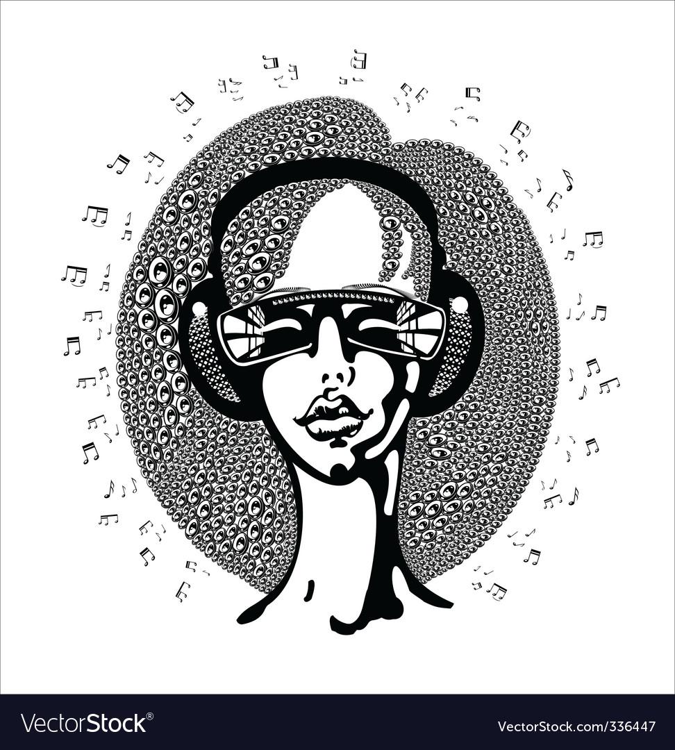 Girl in sunglasses vector image