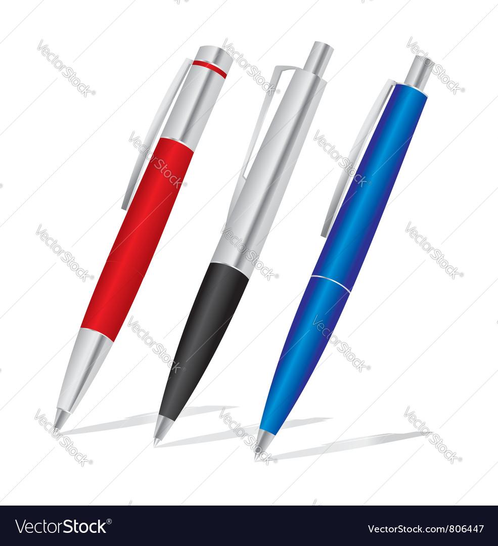 Pens vector image