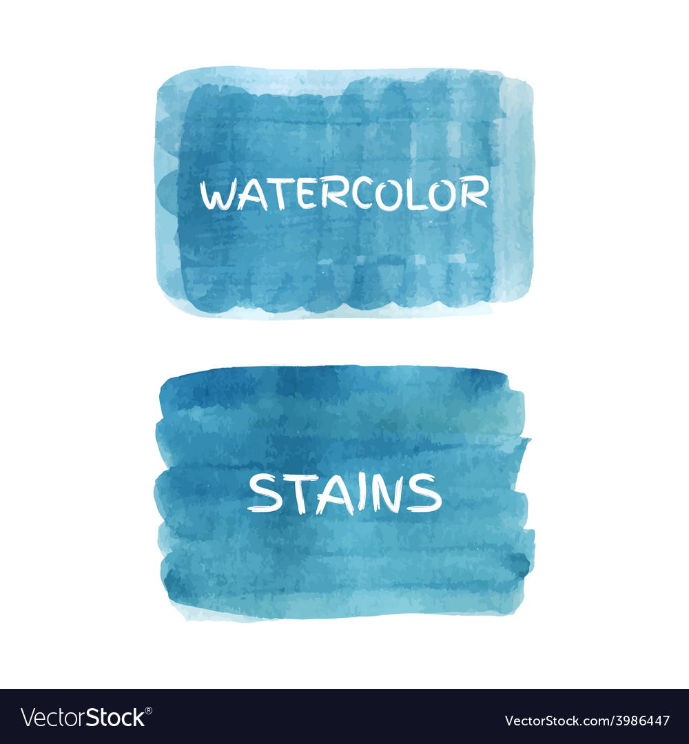 Set watercolor stains vector