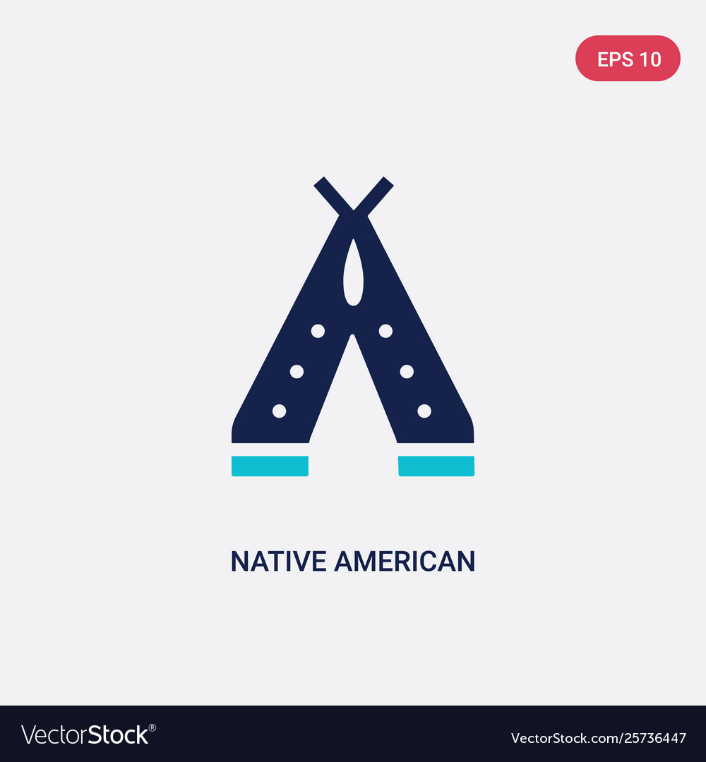 Two color native american wigwam icon from