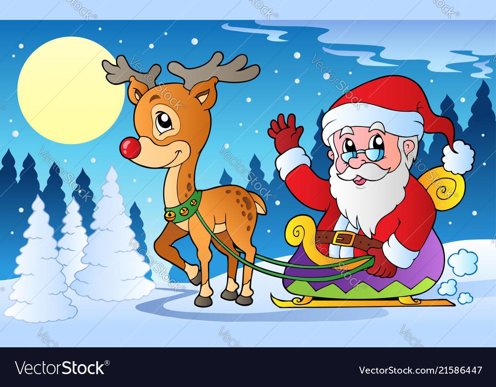 Winter scene with christmas theme 1