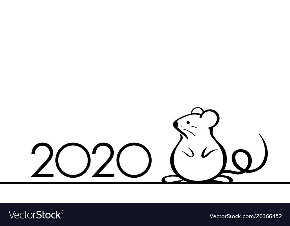 2020 year rat symbol