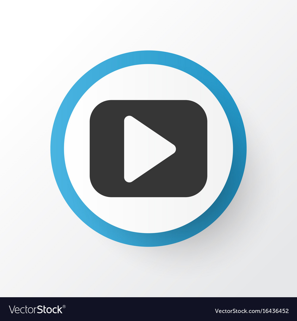 Begin Icon Symbol Premium Quality Isolated Play Vector Image