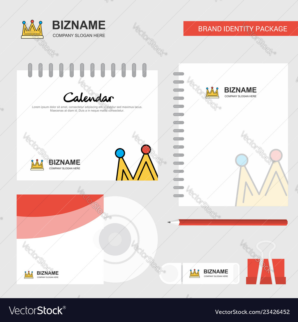 Crown logo calendar template cd cover diary and