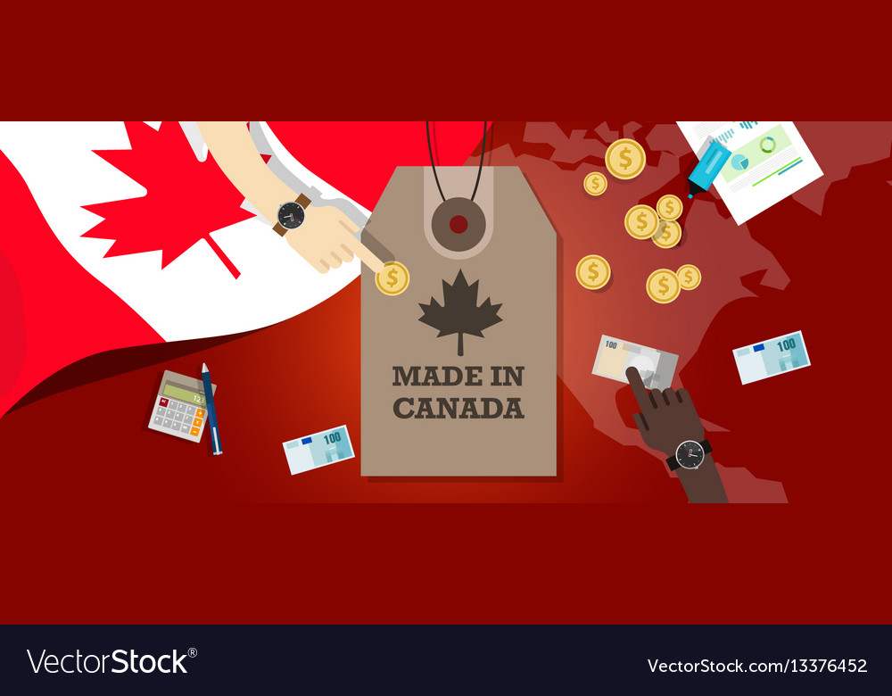 Made in canada price tag badge export