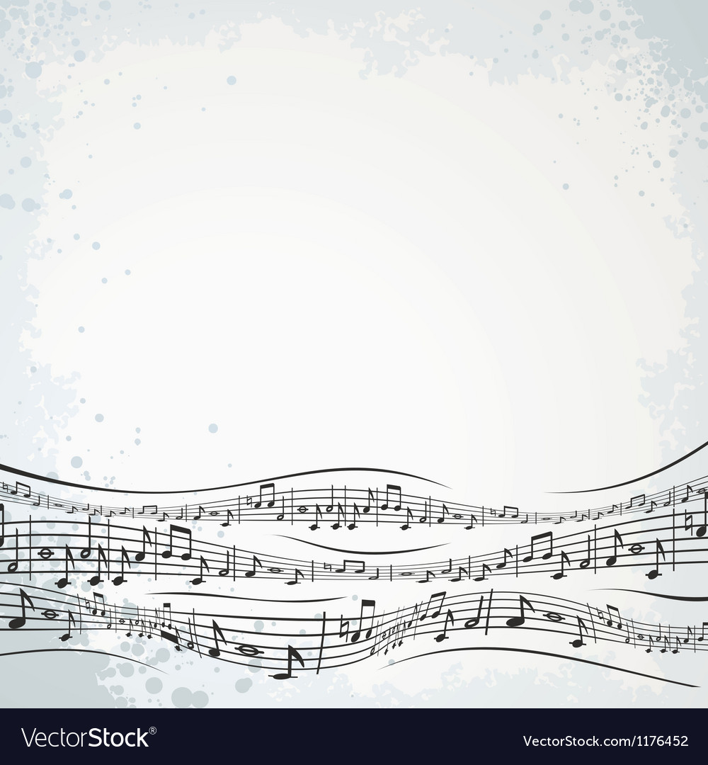Musical Background with Abstract Composition vector image