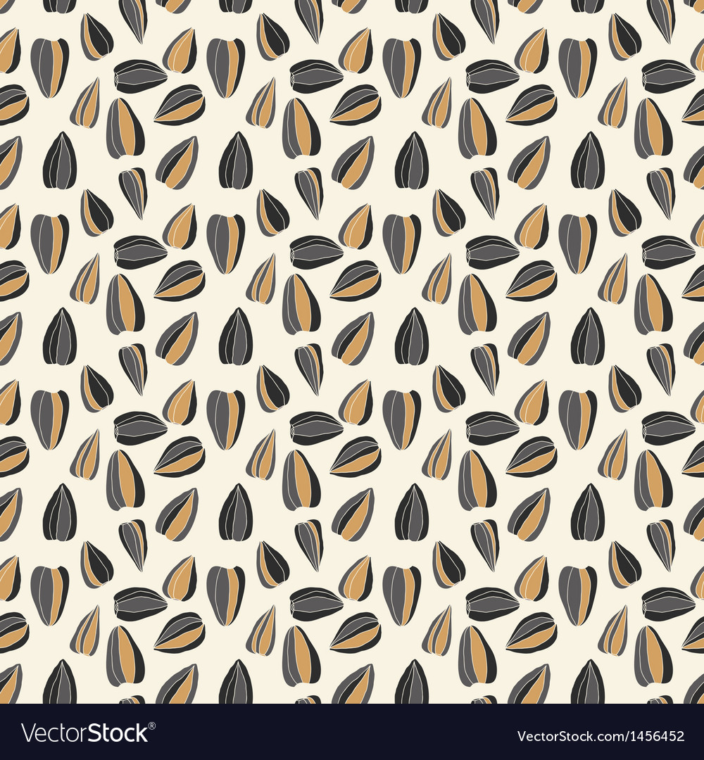 Seamless pattern with sunflower seeds