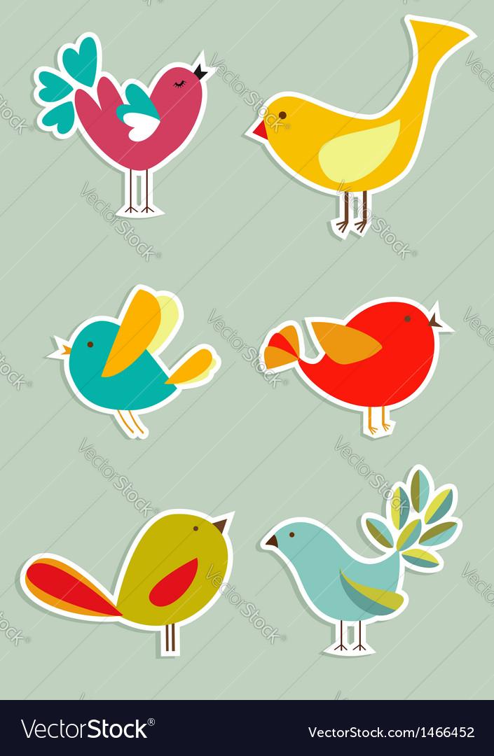 Social media birds set vector image