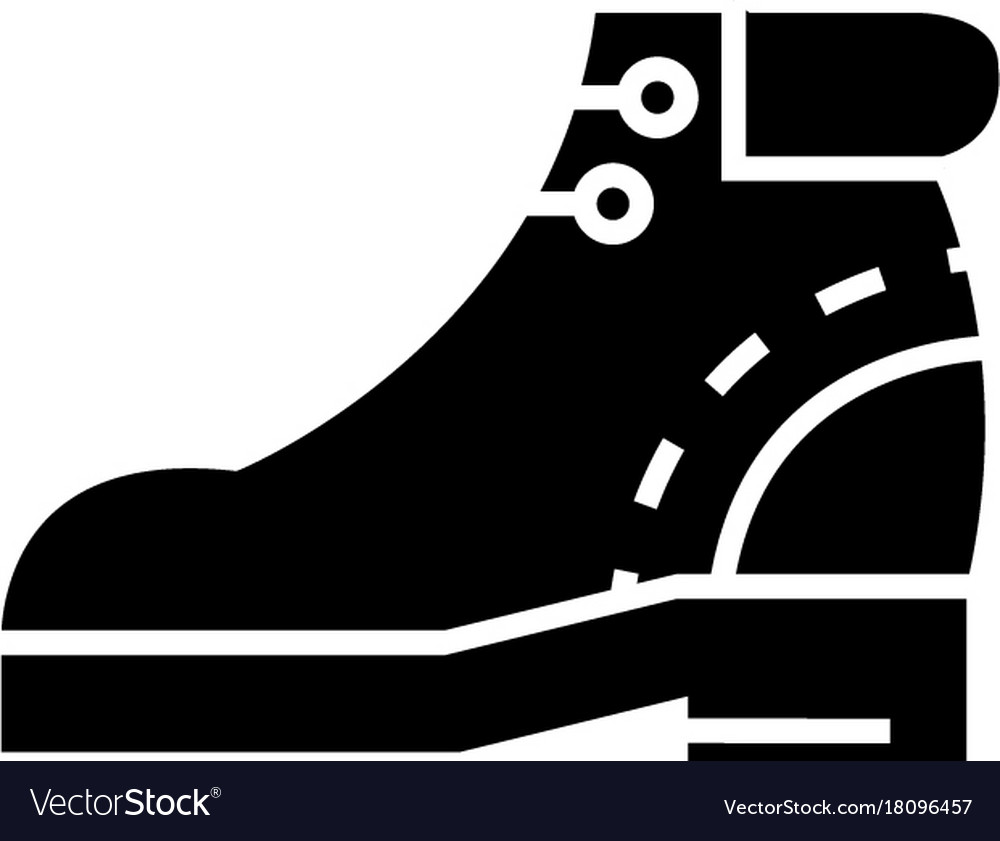 Boots icon black sign on vector image