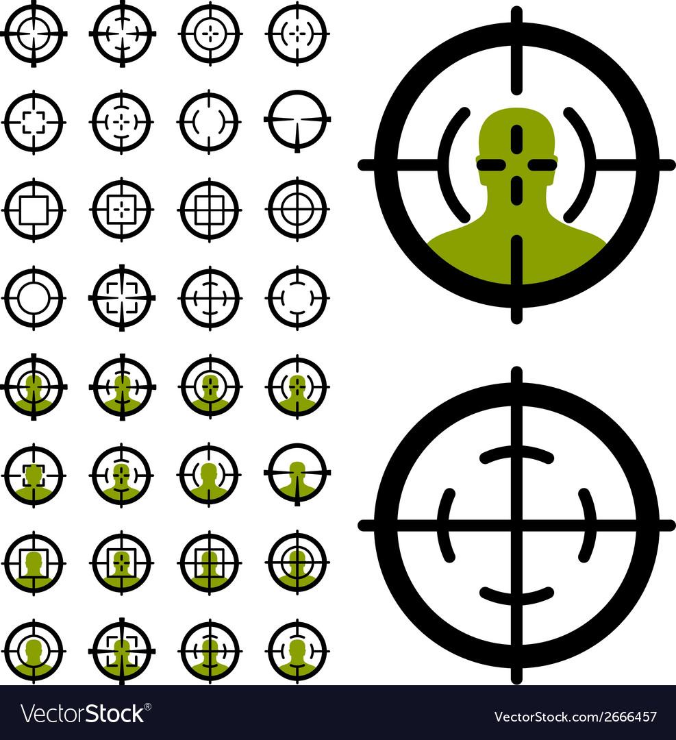Gun Crosshair Sight Symbols Royalty Free Vector Image