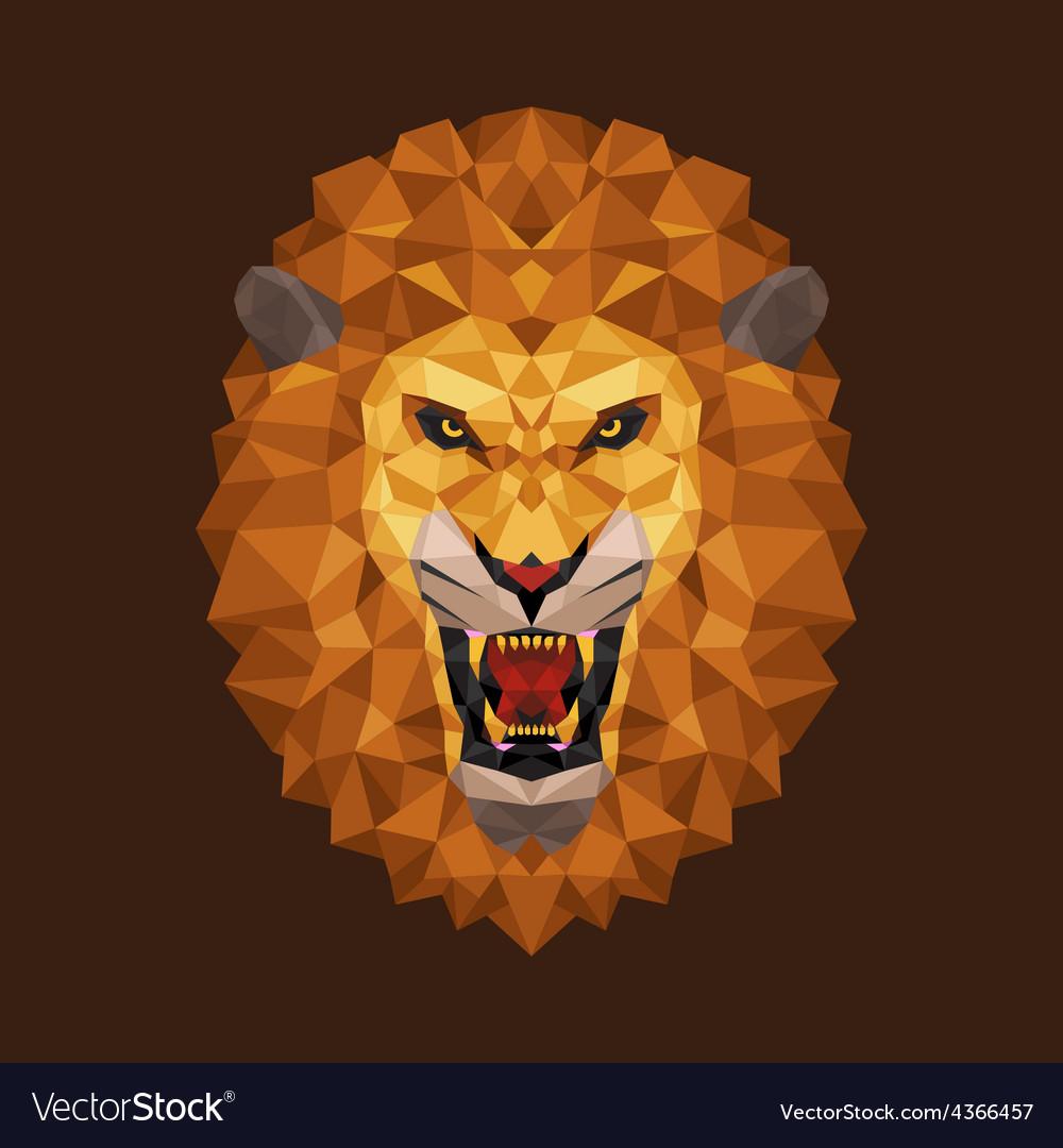 Lion head polygon geometric