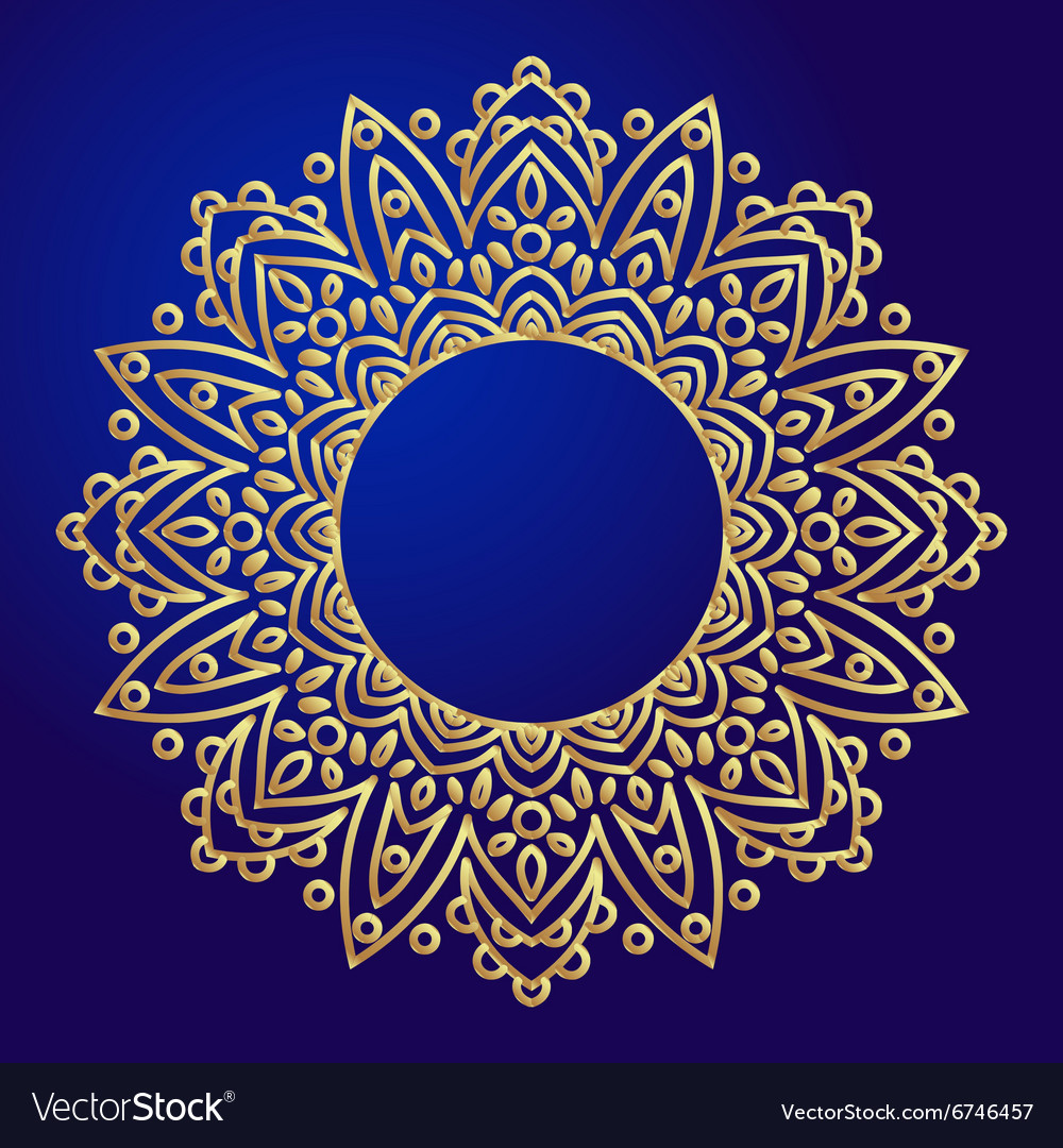 Mandalas Ethnic decorative elements in a circle