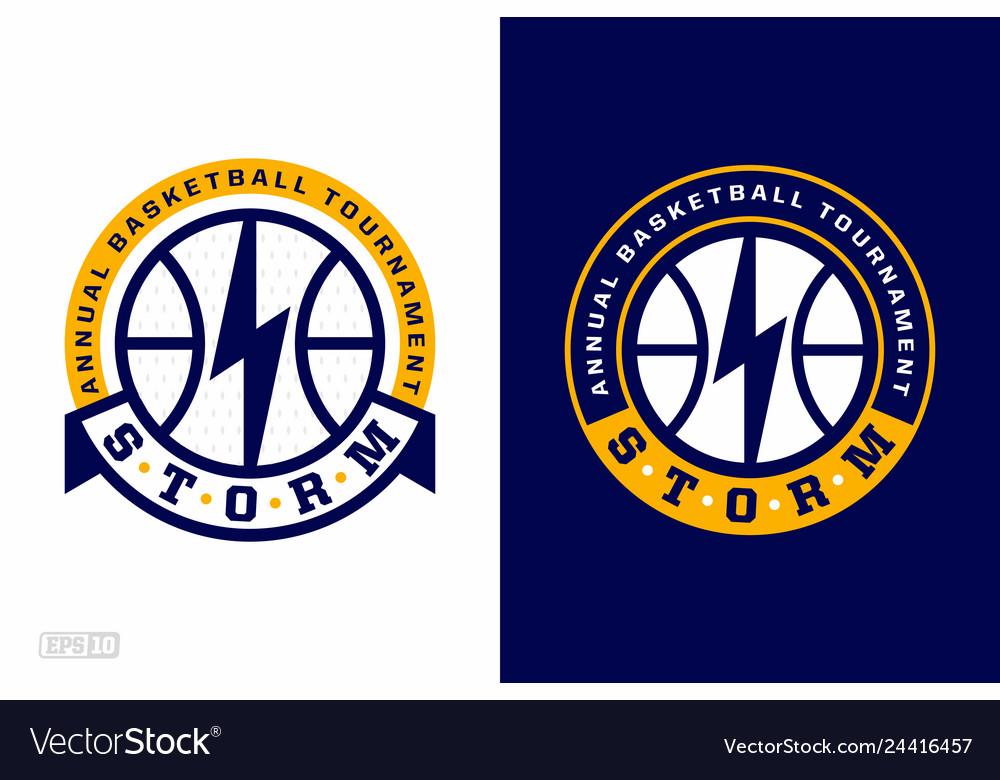 Modern professional basketball logo set for sport