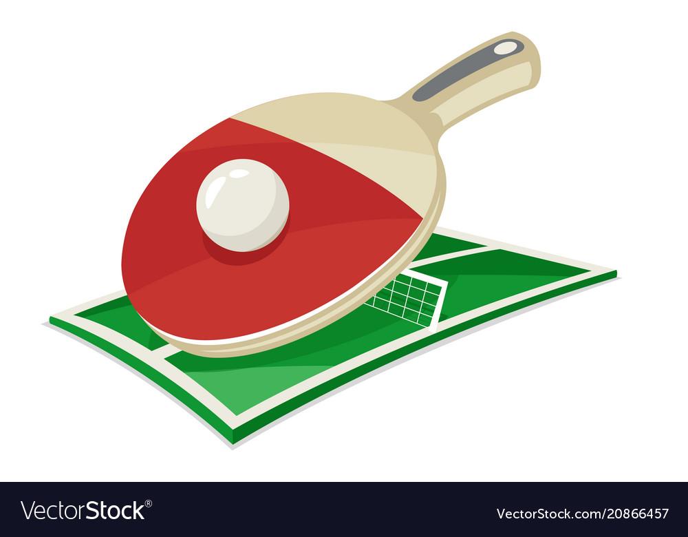Table tennis racket ball field sport cartoon