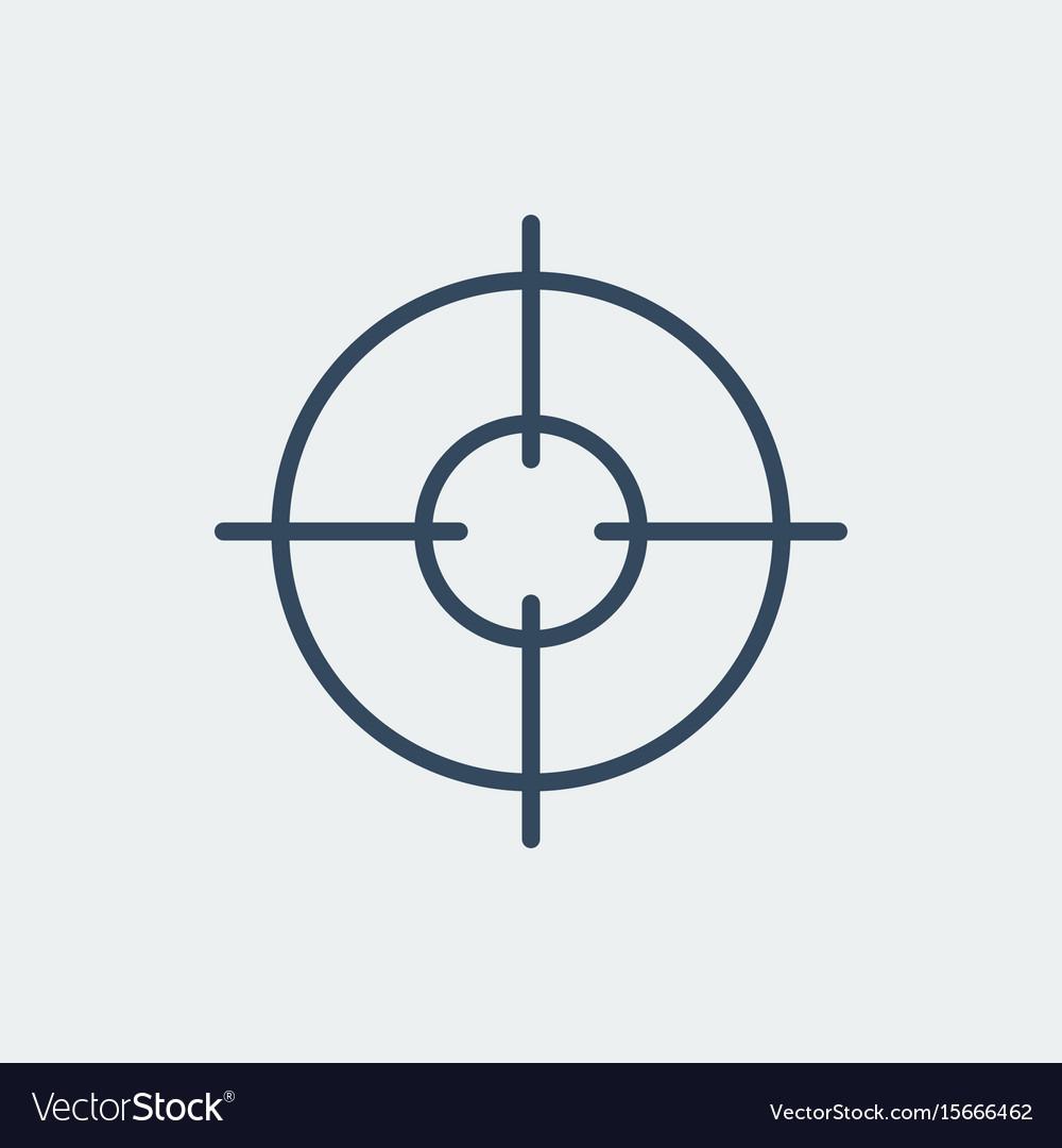 aim icon target symbol crosshair royalty free vector image rh vectorstock com crosshair vector logo sniper crosshair vector