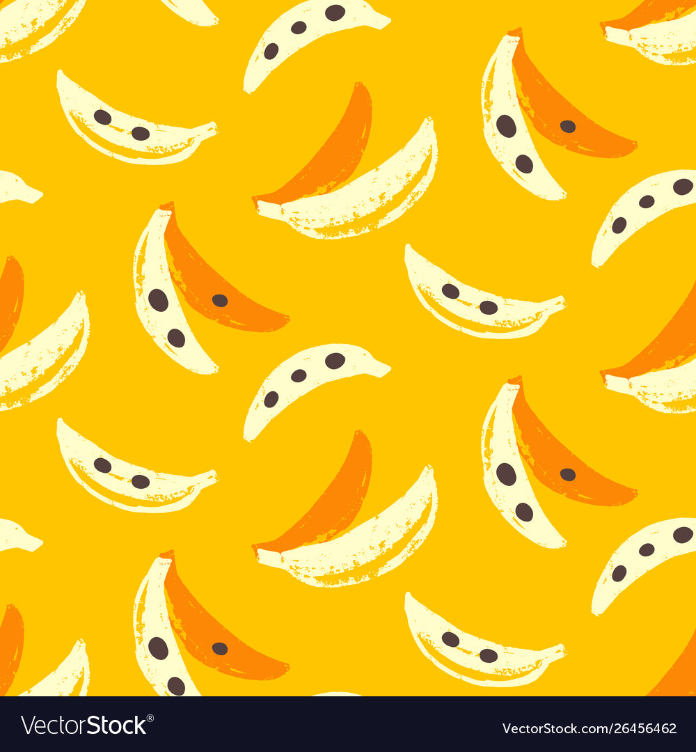 Bananas tropic seamless pattern