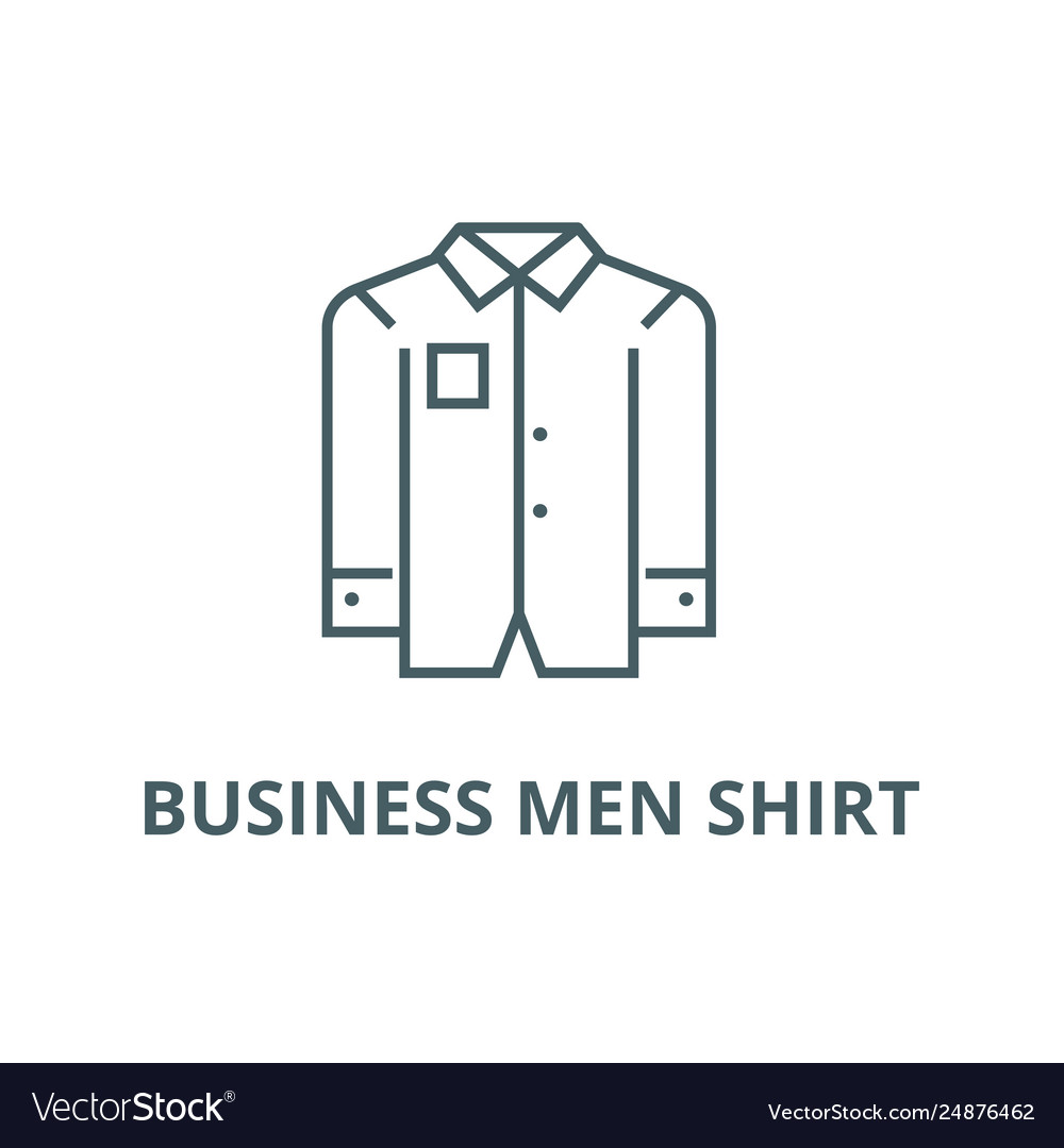 Business men shirt line icon business men