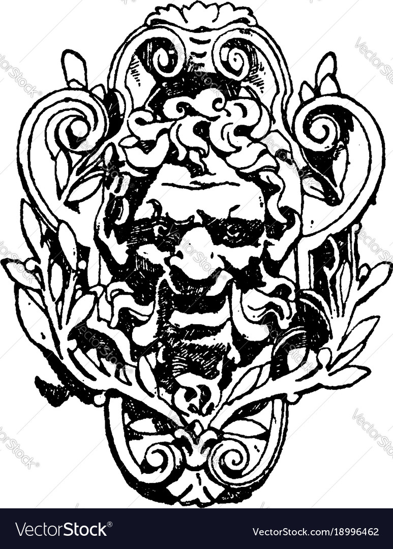 evil modern french grotesque vintage engraving vector image