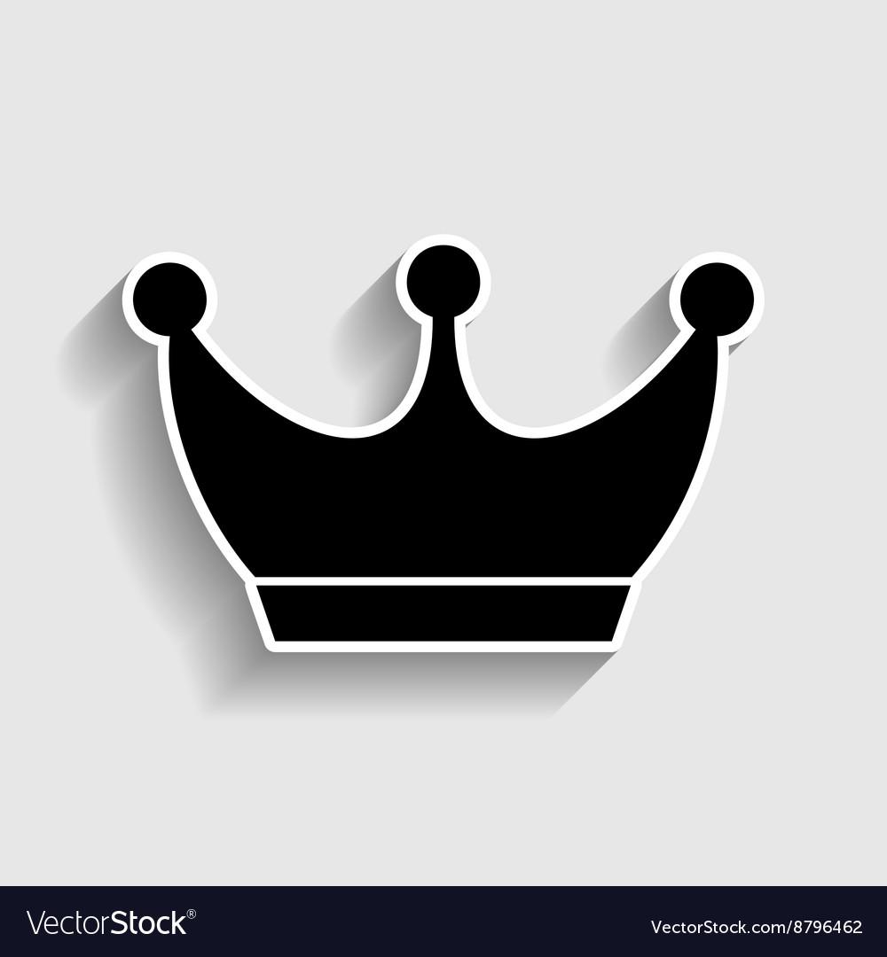 king crown sign royalty free vector image vectorstock rh vectorstock com king crown symbol copy and paste king crown logo png