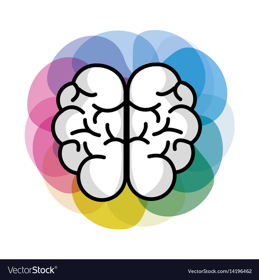 Mental Health Brain Art Royalty Free Vector Image