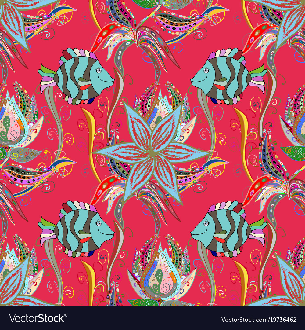 Amazing Colored Fish Pattern - Drawing Coloring - androidharga.info