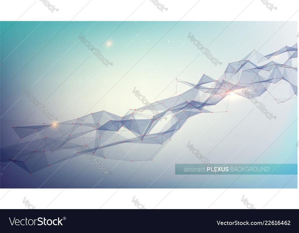 Plexus abstract digital background concept of