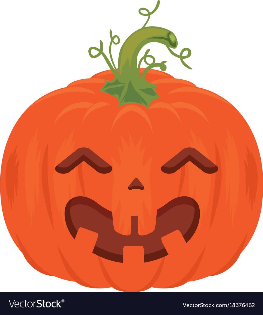 Pumpkin hallooween decorative icon vector image