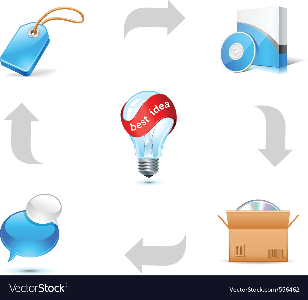 Sales good scheme vector image