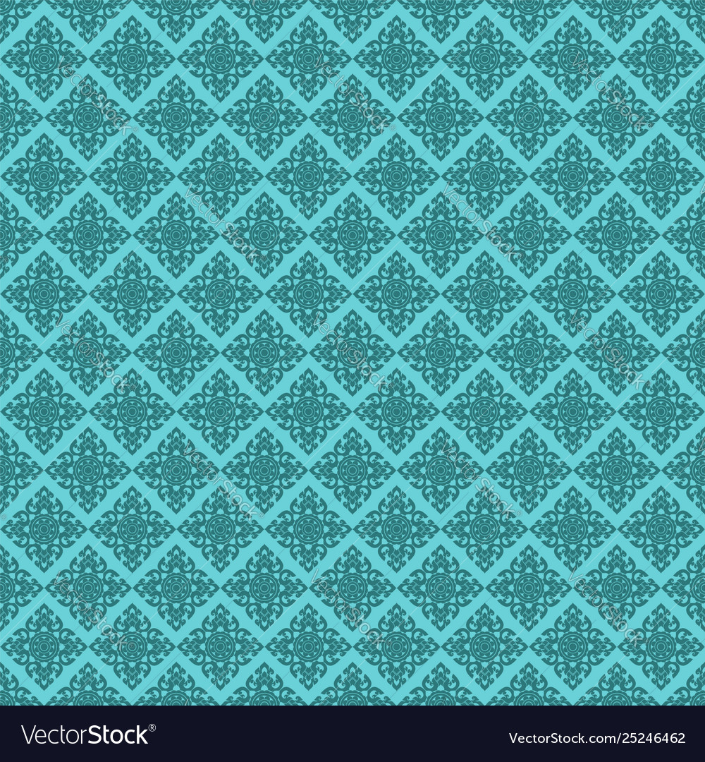 Seamless line thai green pattern arts of