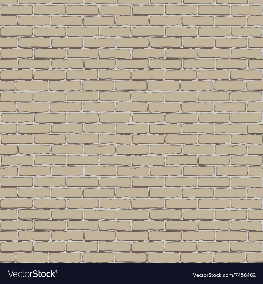 Seamless white brick wall vector image