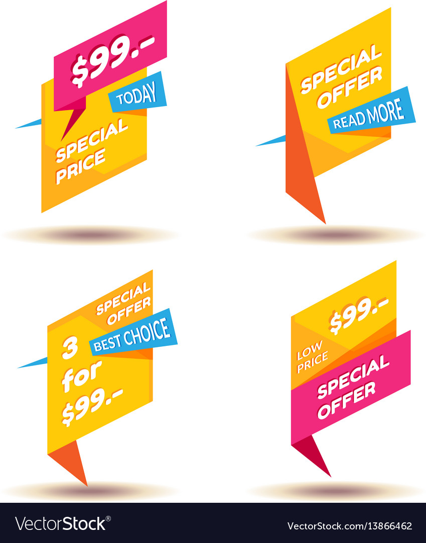 Set of modern sale stickers badge for online