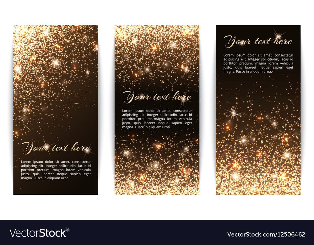 Set of vertical banners black background vector image