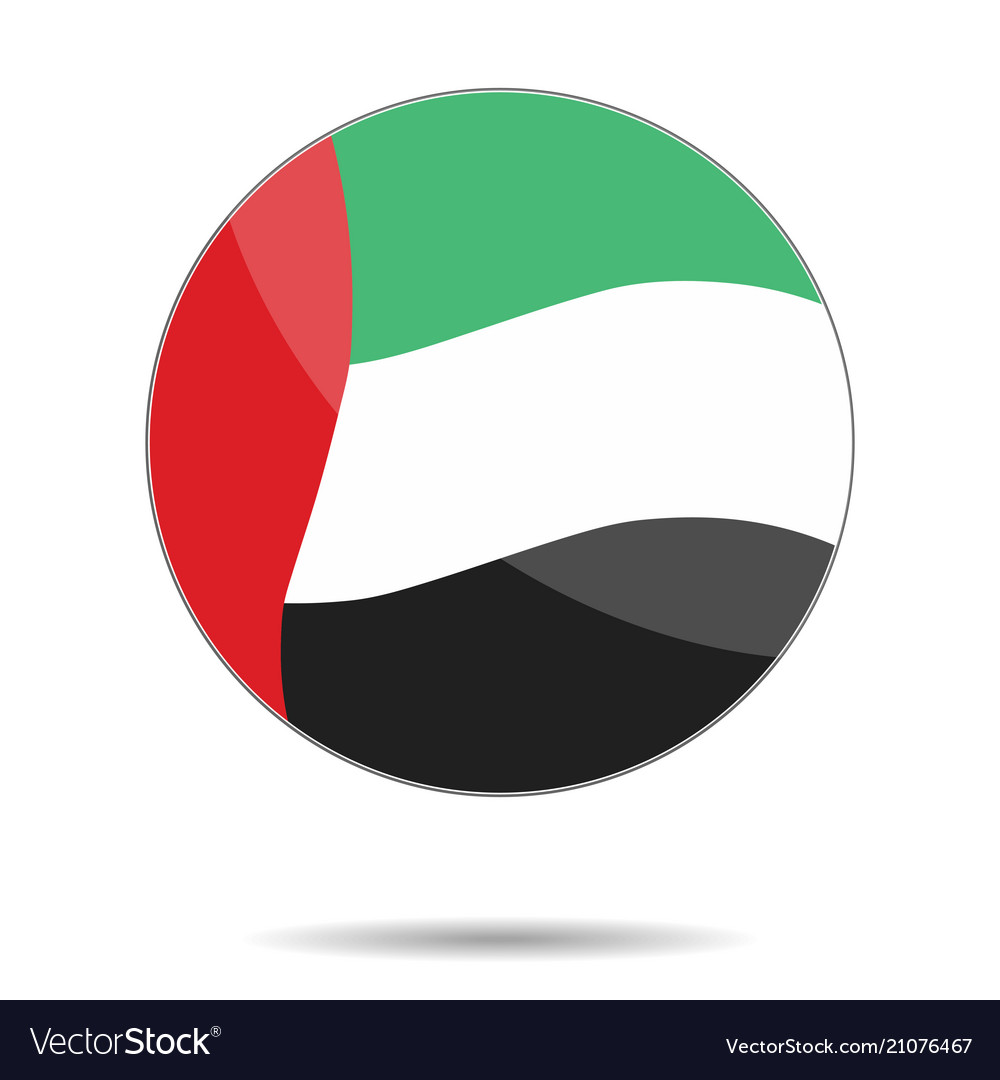 A united arab emirates flag flat icon eps10 vec