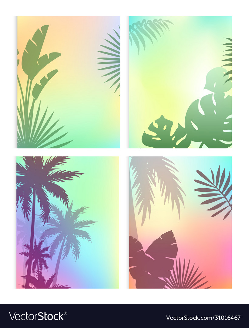 Background with summer leaves