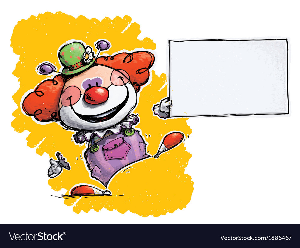 Clown holding business card royalty free vector image clown holding business card vector image colourmoves