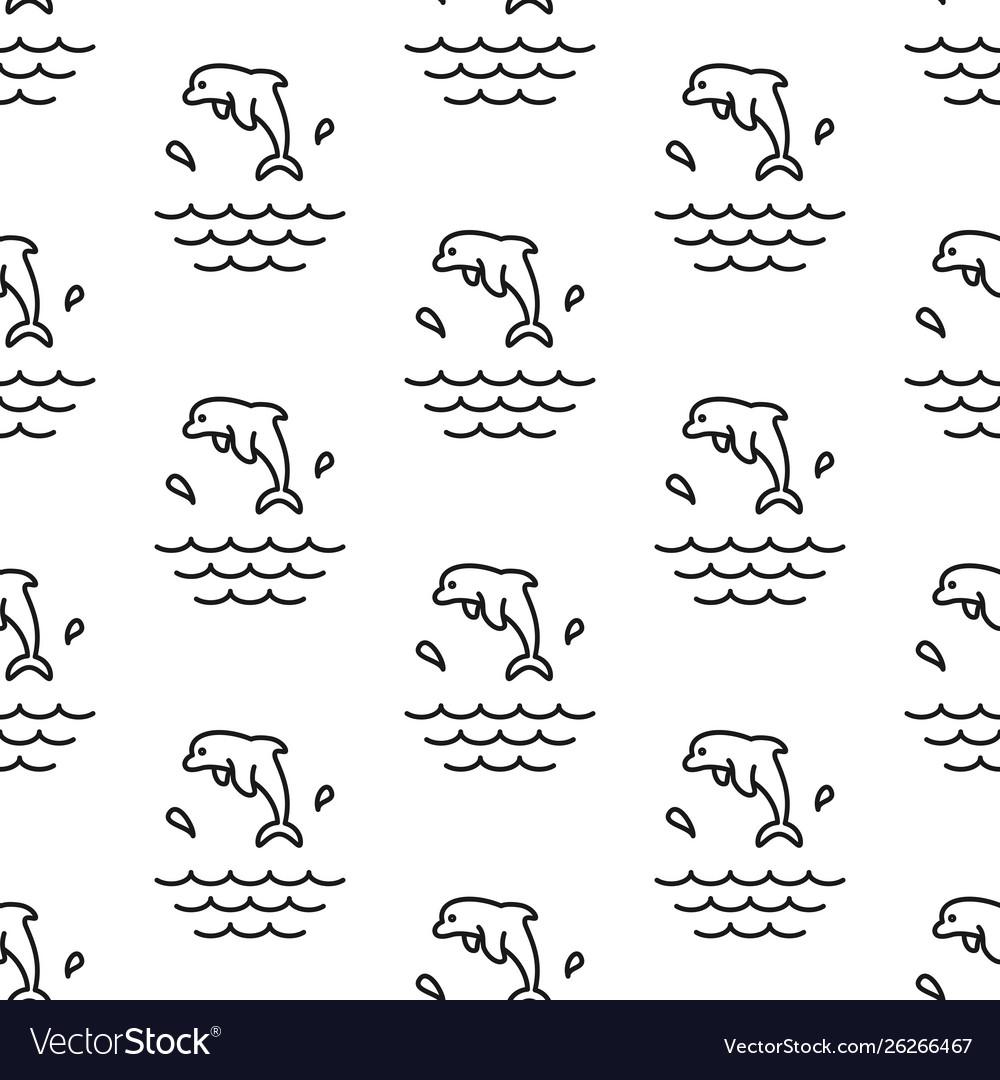 Dolphin splashes pattern seamless