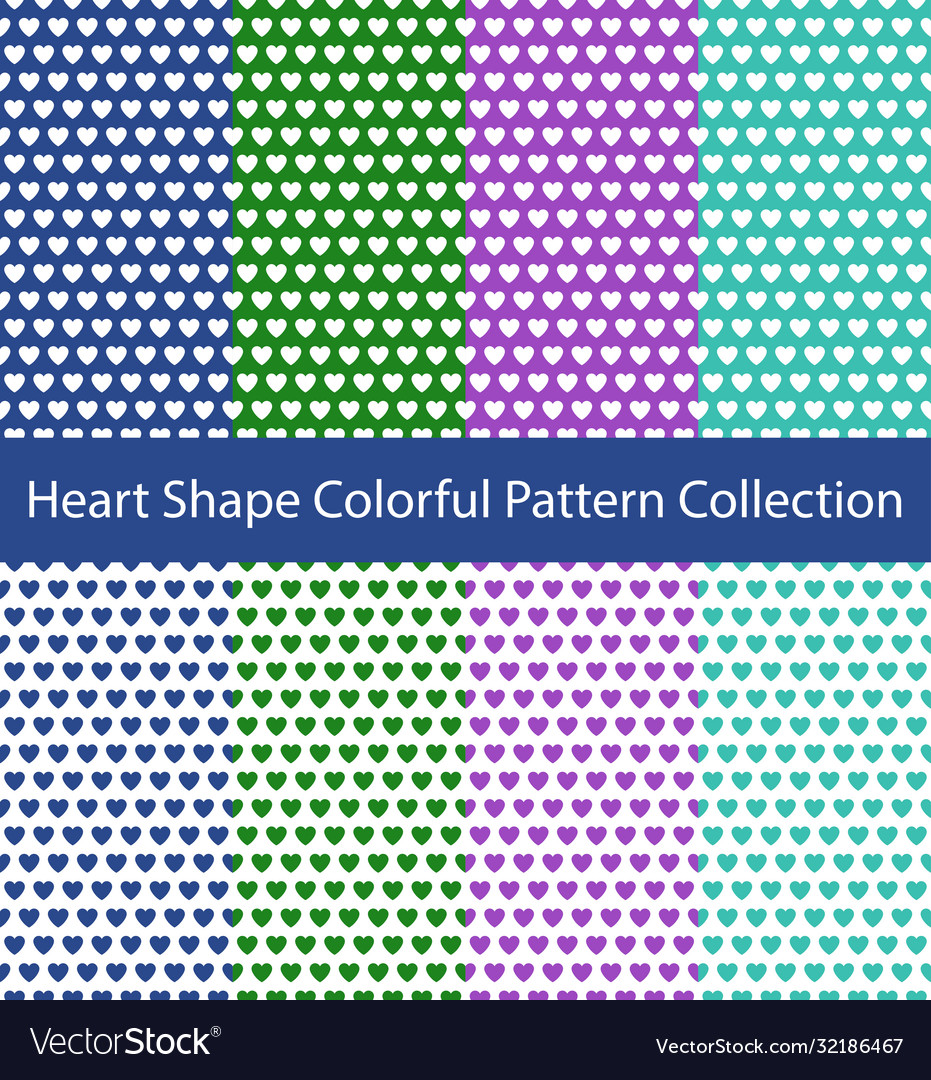 Heart shape pattern collection
