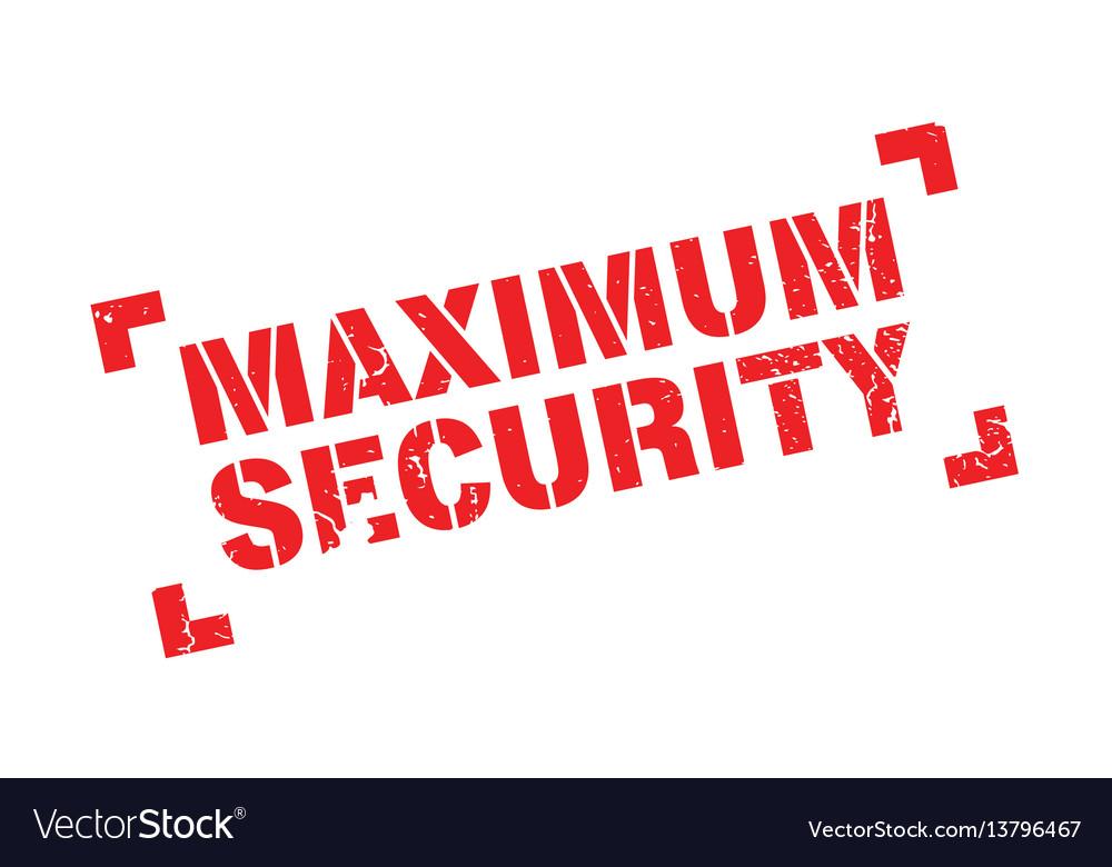 Maximum security rubber stamp