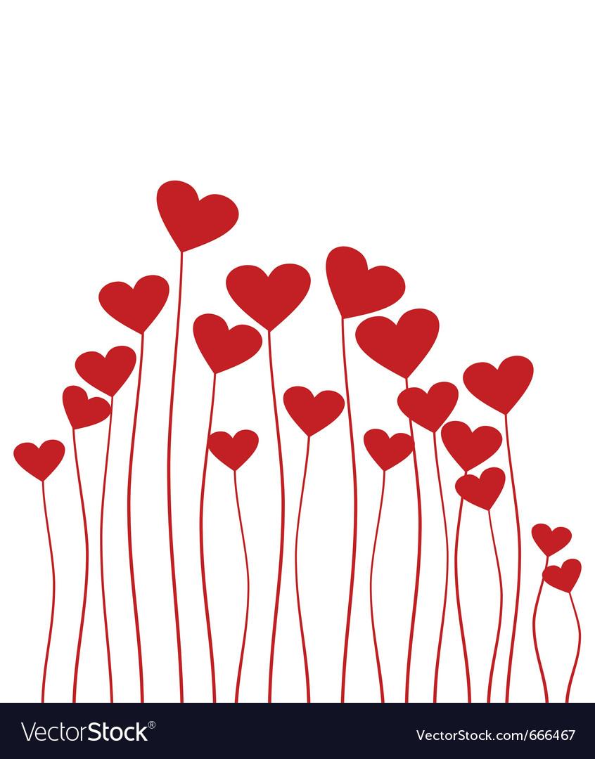 Red heart flower
