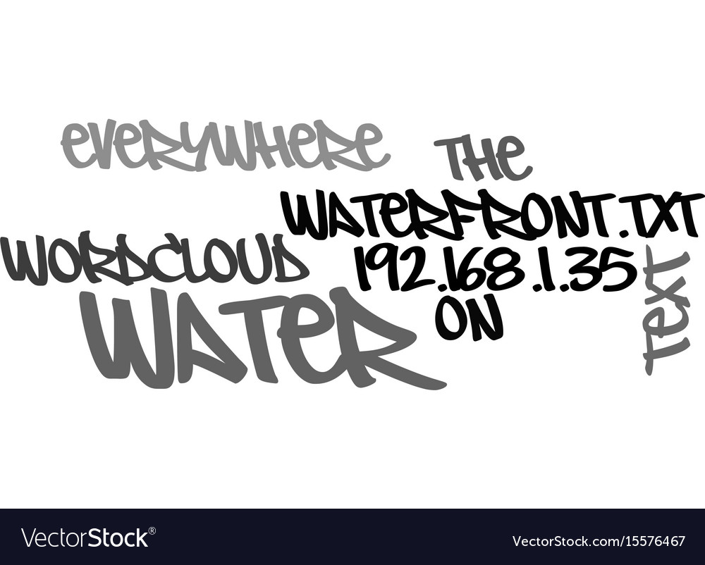 Water water everywhere on the waterfront text