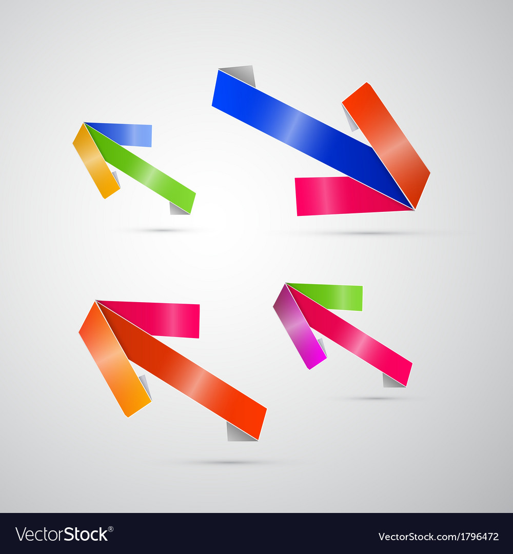 Abstract 3d Arrow Icon vector image