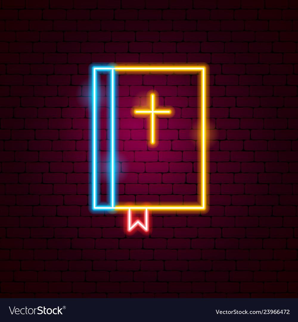 Bible neon sign