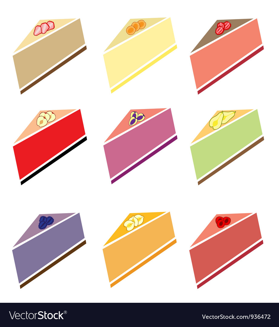 Cheesecakes set