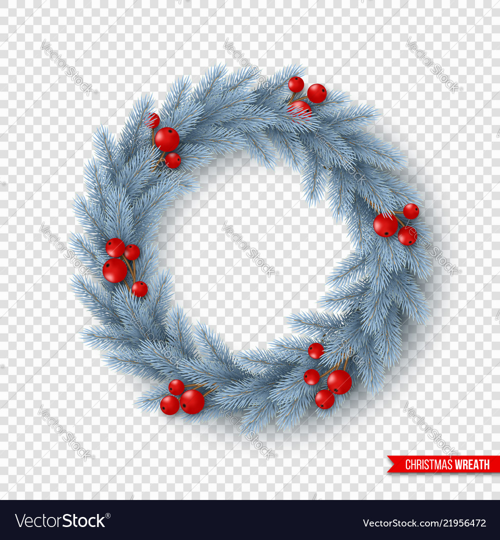 Christmas wreath with realistic fir-tree branches