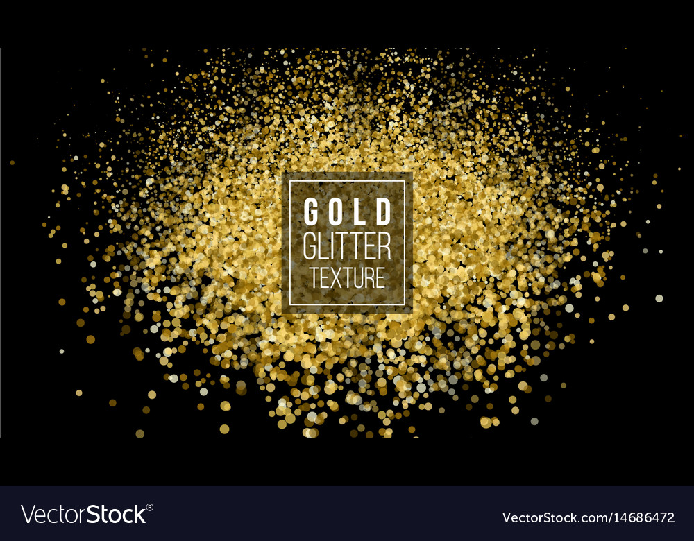 Gold glitter powder explosion dust and spark