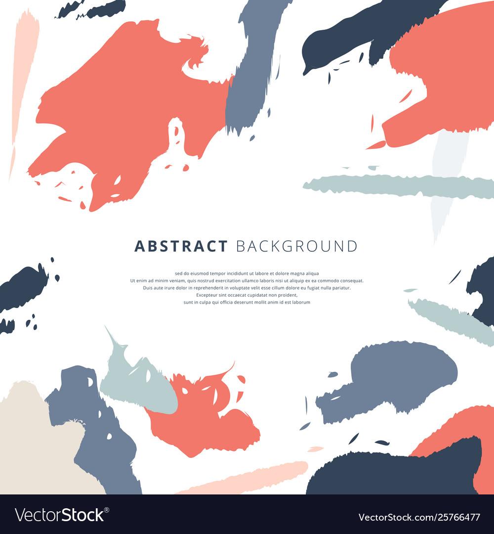 Abstract shapes art brush splash pattern pastels
